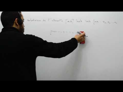 Les intégrales de Riemann, qu'est ce qu'une subdivision, part 01