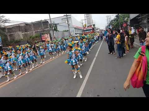 Lipa city Fiesta Parade 2018 (CQES mini band)