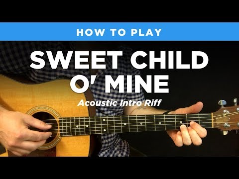 🎸 Sweet Child O' Mine • Acoustic intro riff w/ tab (Guns N Roses guitar lesson)