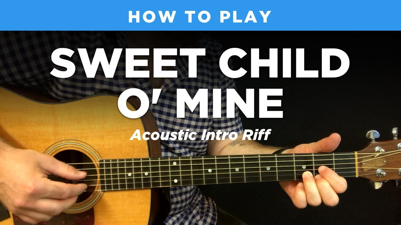 sweet child o 39 mine acoustic intro riff w tab guns n roses guitar lesson youtube. Black Bedroom Furniture Sets. Home Design Ideas