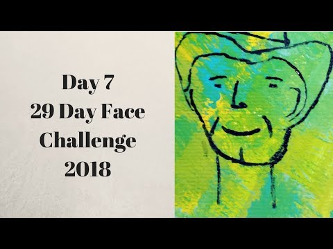 How to Make Artist Trading Card Day 7 Of The 29 Day Face Challenge 2018