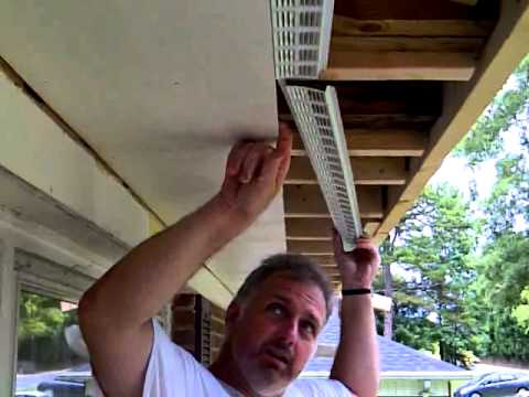 How To Install Soffit Vents Youtube