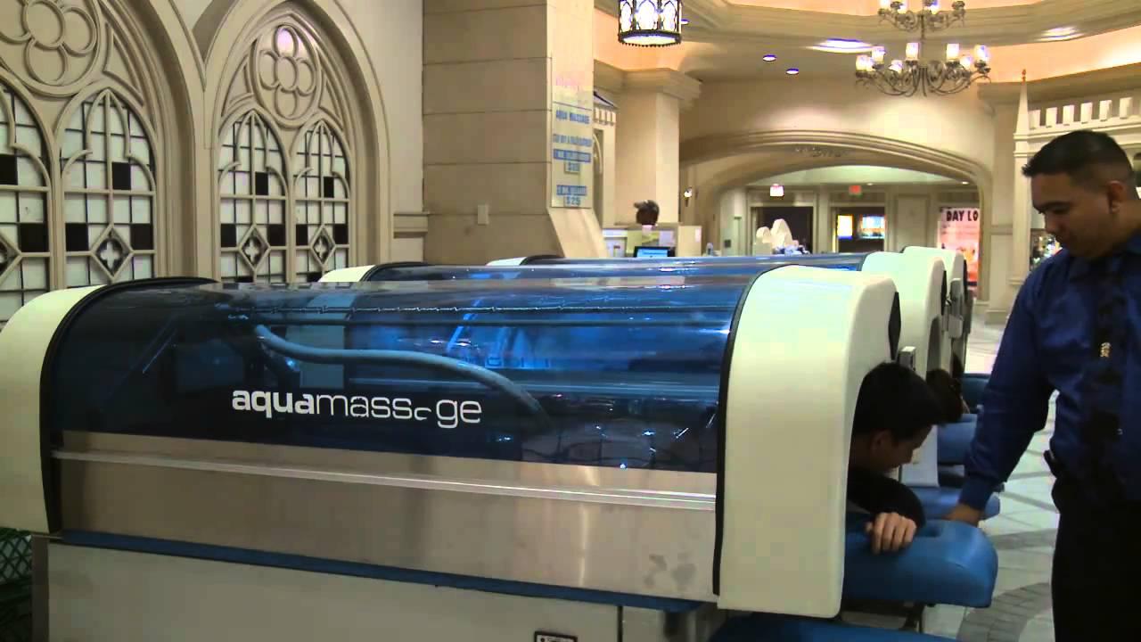 Waterjet self service massage machine in Las Vegas - YouTube