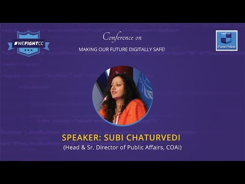 Dr. Subi Chaturvedi from COAI shared tips for safe usage of Internet at #WeFightCC Conference.