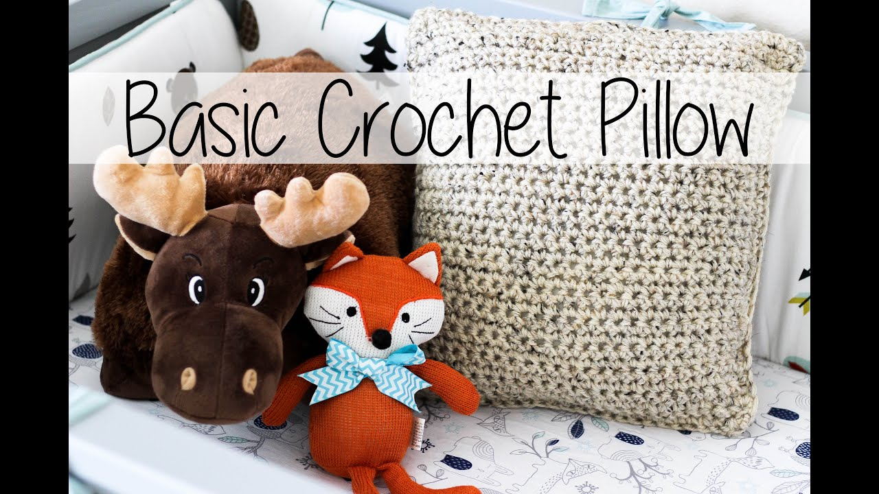 Basic Crochet Pillow The Easiest Ever Sewrella Youtube