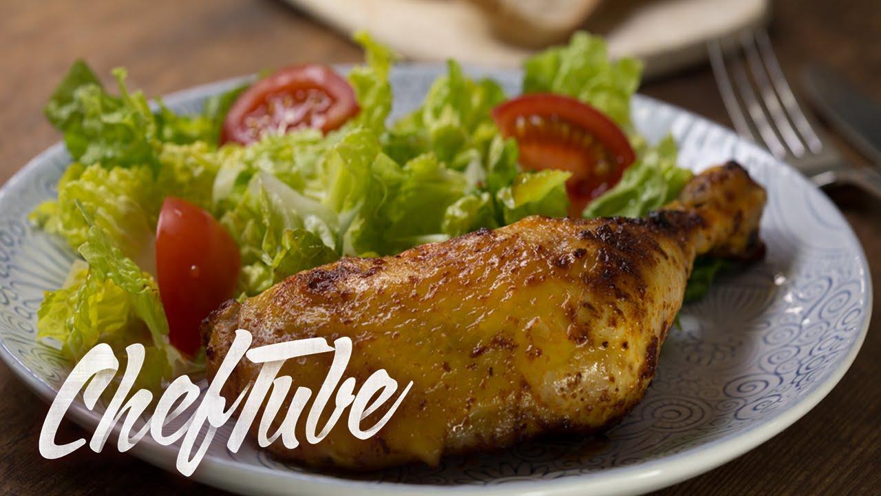 Como cocinar muslos de pollo crujientes al horno receta for Cocinar en 5 min