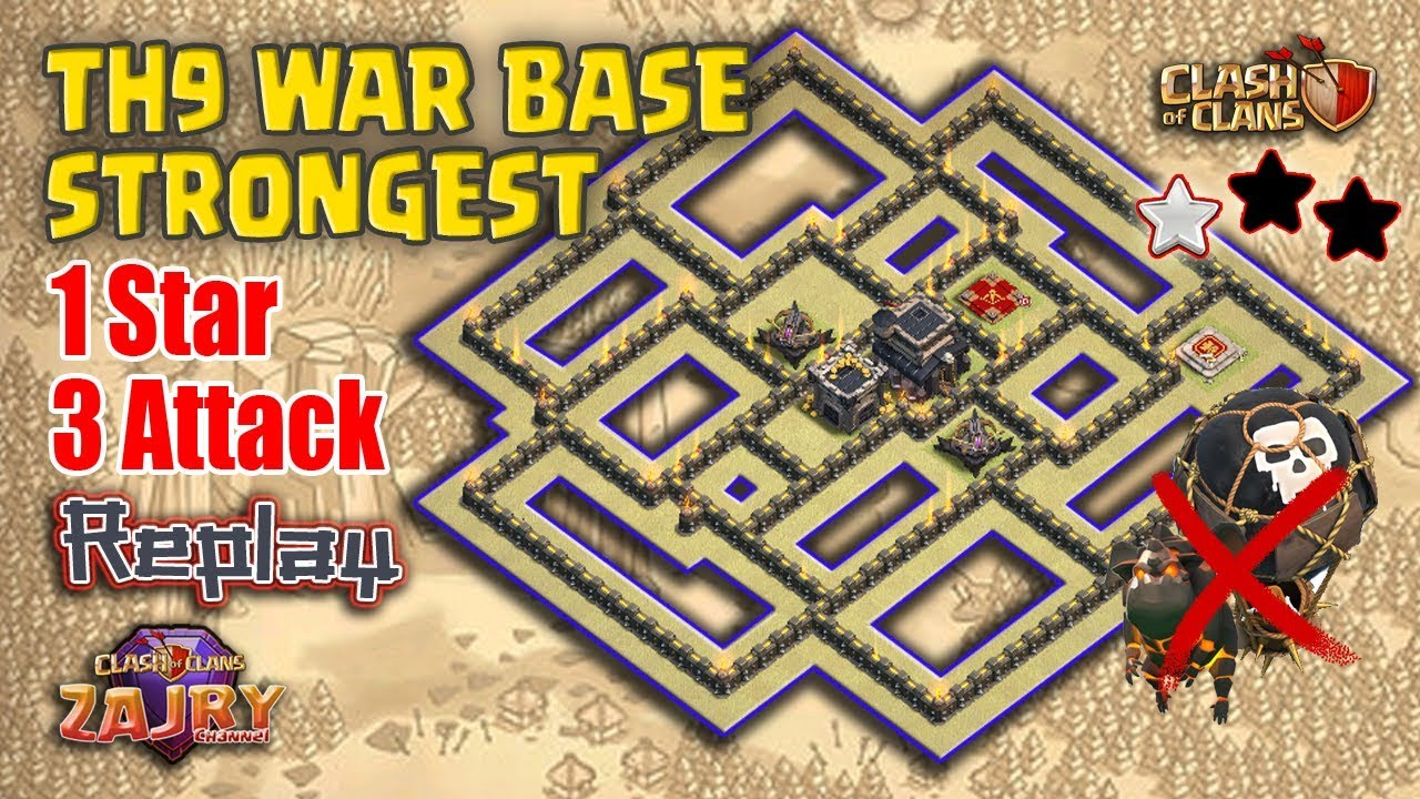 Base Coc Th 9 Pangkalan Perang 6
