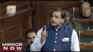 Shashi Tharoors speech on transgender bill creates an uproar in parliament