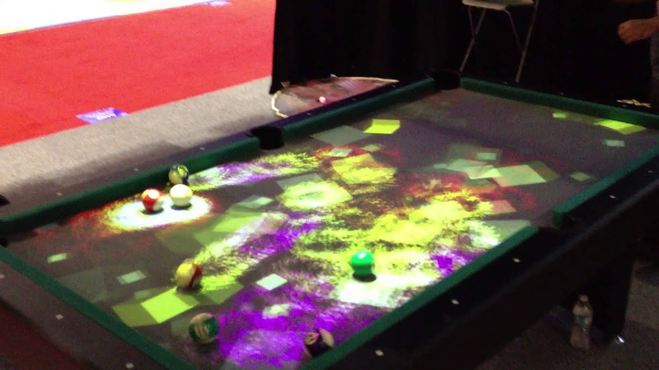 Pool Table Projection Mapping Youtube