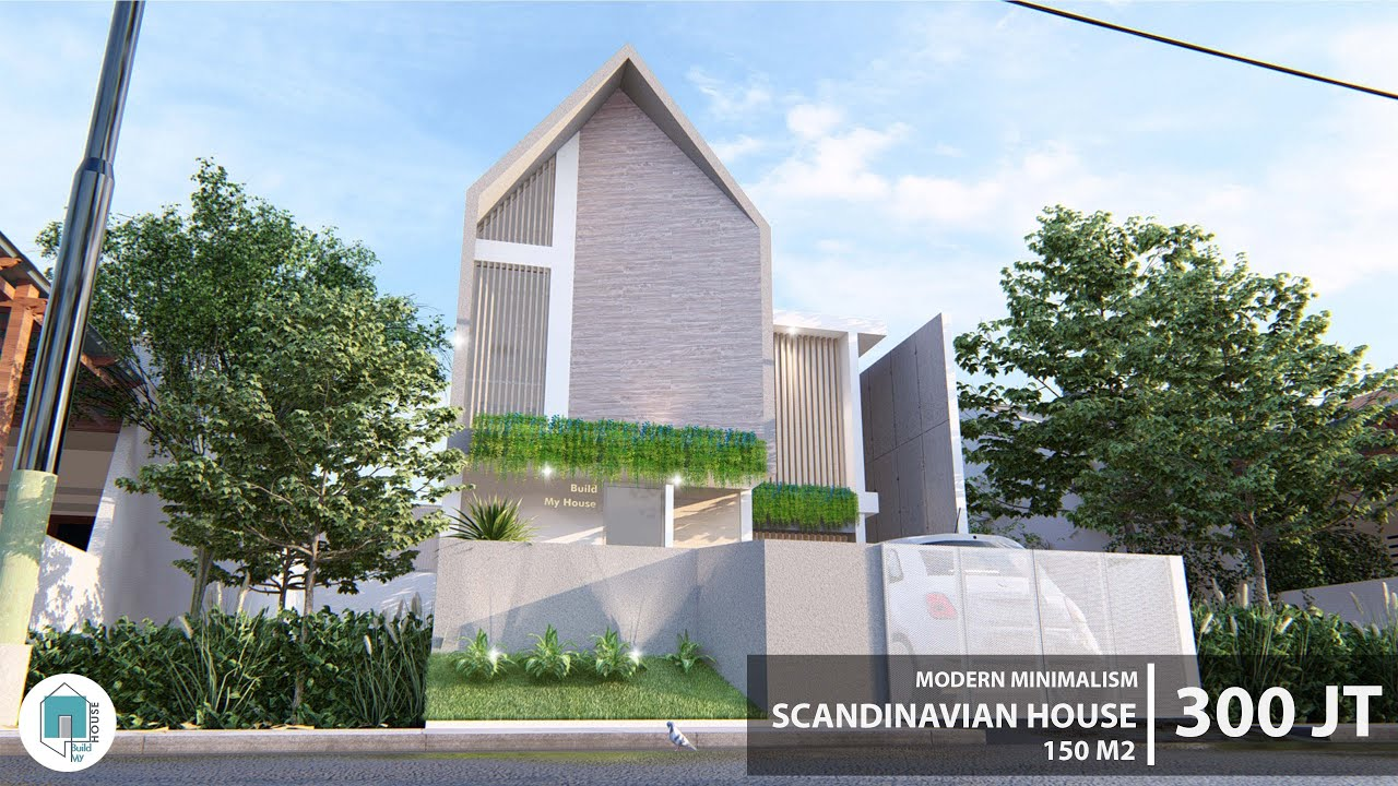 Desain Rumah Minimalis Scandinavian di Lahan 7x15 m