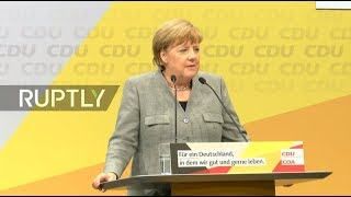 LIVE  Merkel holds campaign rally in Dortmund