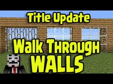 Minecraft PS3, PS4, Xbox, Wii U - WALK THROUGH WALL Glitch! Title Update (TU25/TU26)