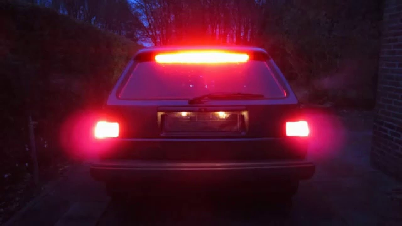 car led brake light vw golf 2 led youtube rh youtube com