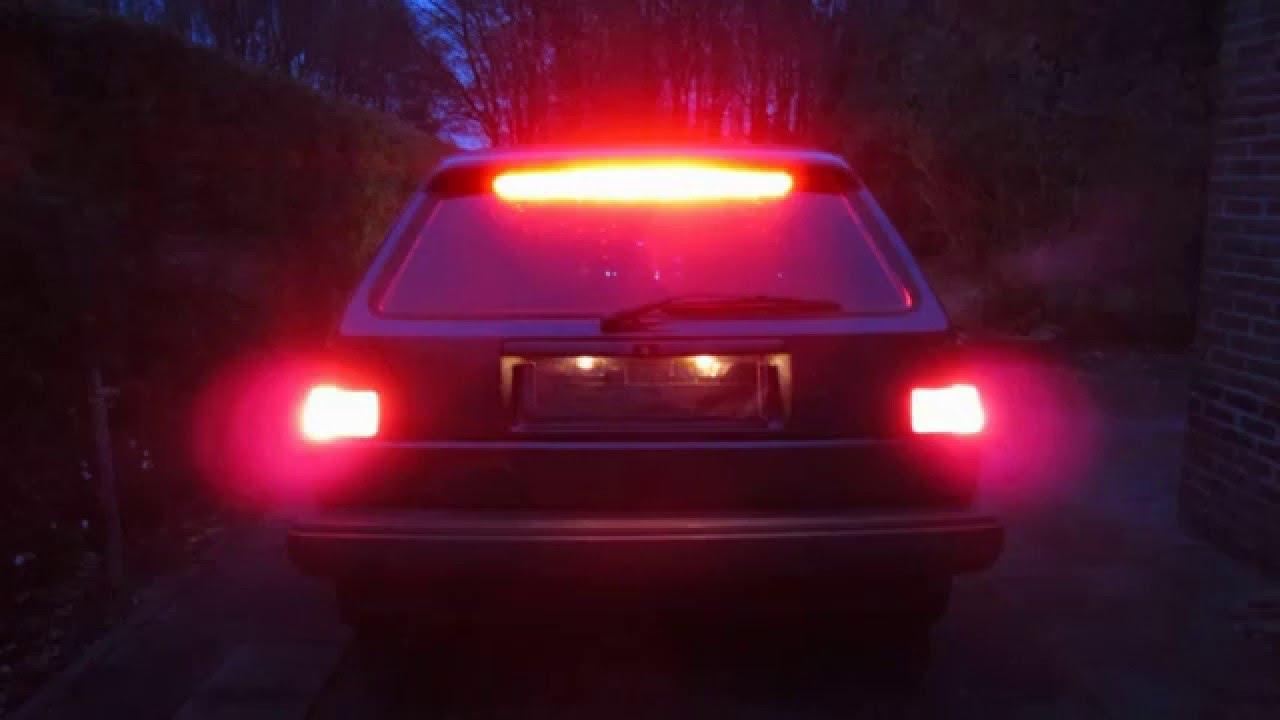 Marvelous Car Led Brake Light Vw Golf 2 ไฟเบรค You