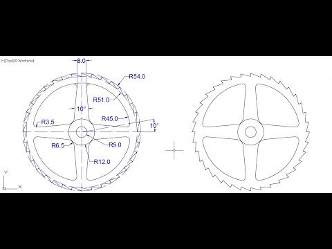 AutoCAD 2D design on cad software for beginners 4