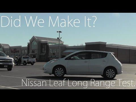 Nissan Leaf Road Trip Range Testing