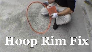RicksDIY Repairing Bent Basketball Hoop Rim Fix Broken Smashed Repair Straighten