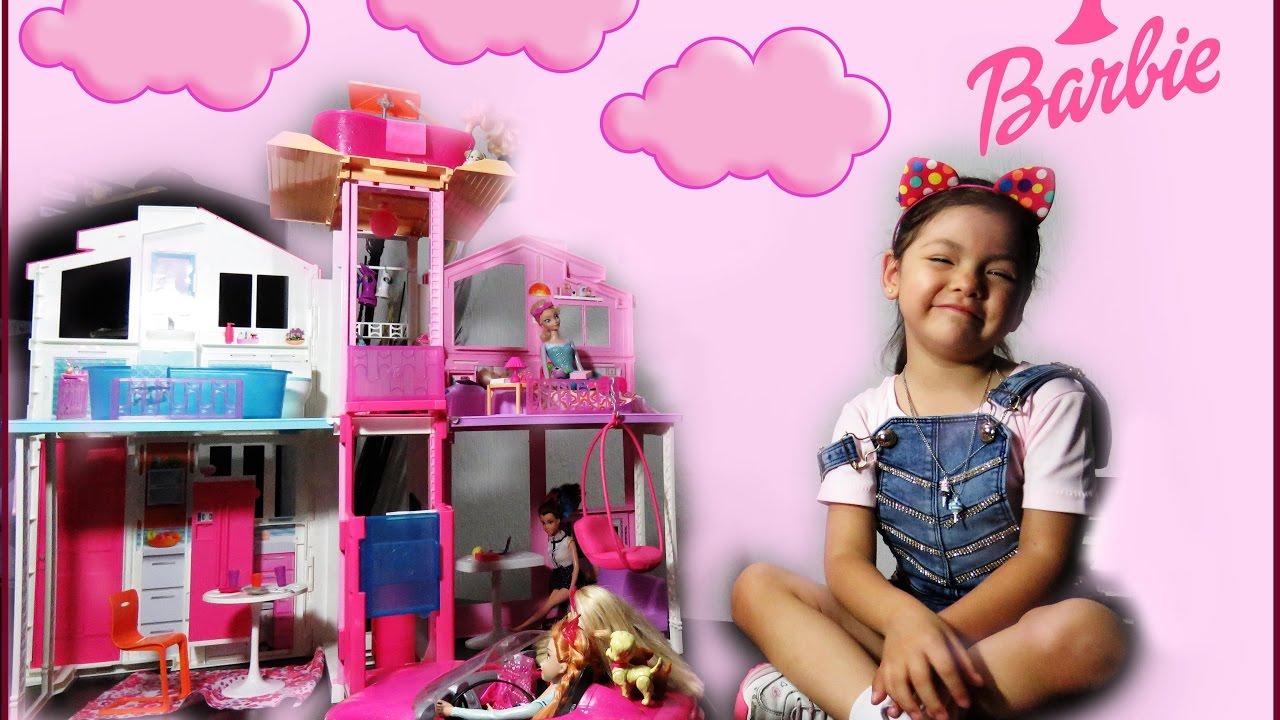 Casa de barbie pink passport youtube - Supercasa de barbie ...