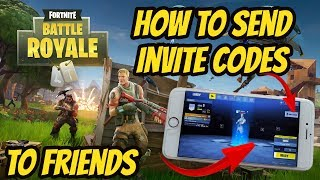 FORTNITE Invite Codes, How to send