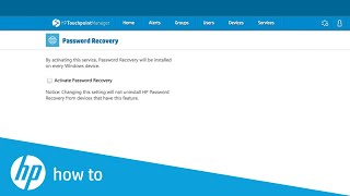 HP Touchpoint Manager Password Recovery