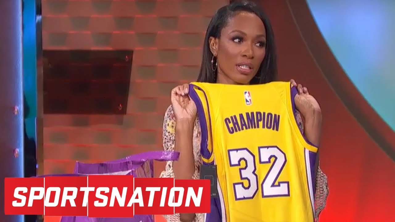 innovative design 66b4c a4a5e Josh Hart gives Cari Champion some Lakers gear after Marcellus' trolling |  SportsNation | ESPN
