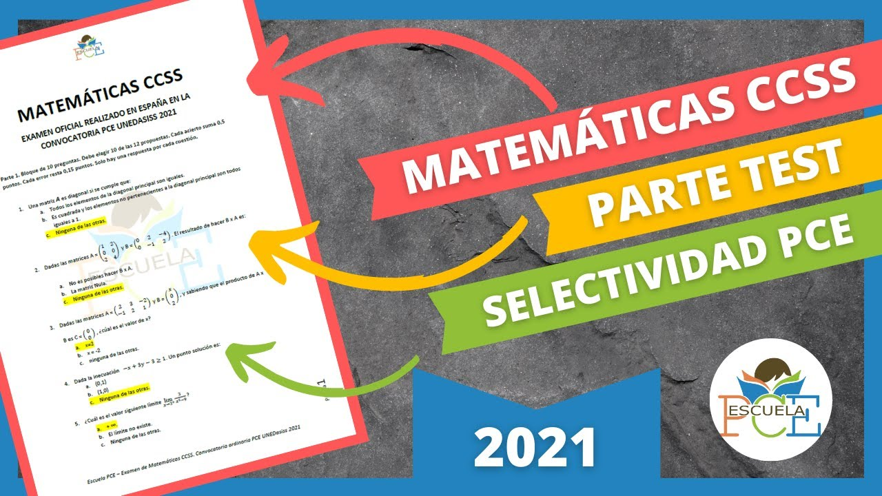 Download ✔️ EXAMEN SELECTIVIDAD PCE MATEMÁTICAS CCSS 2021 (PARTE 1) RESUELTO