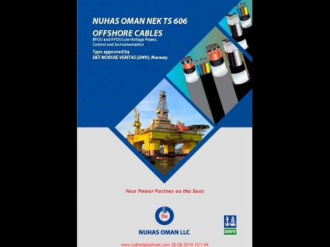 Nuhas Oman NEK TS 606 Offshore Cables Catalog