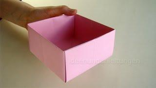 Schachtel falten - Kisten Basteln mit Papier - Geschenkbox selber machen