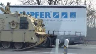 ARMY TANK CONVOY ACROSS GERMANY | U.S. Army Panzer Konvoi - NATO Troops & Bundeswehr [HD]