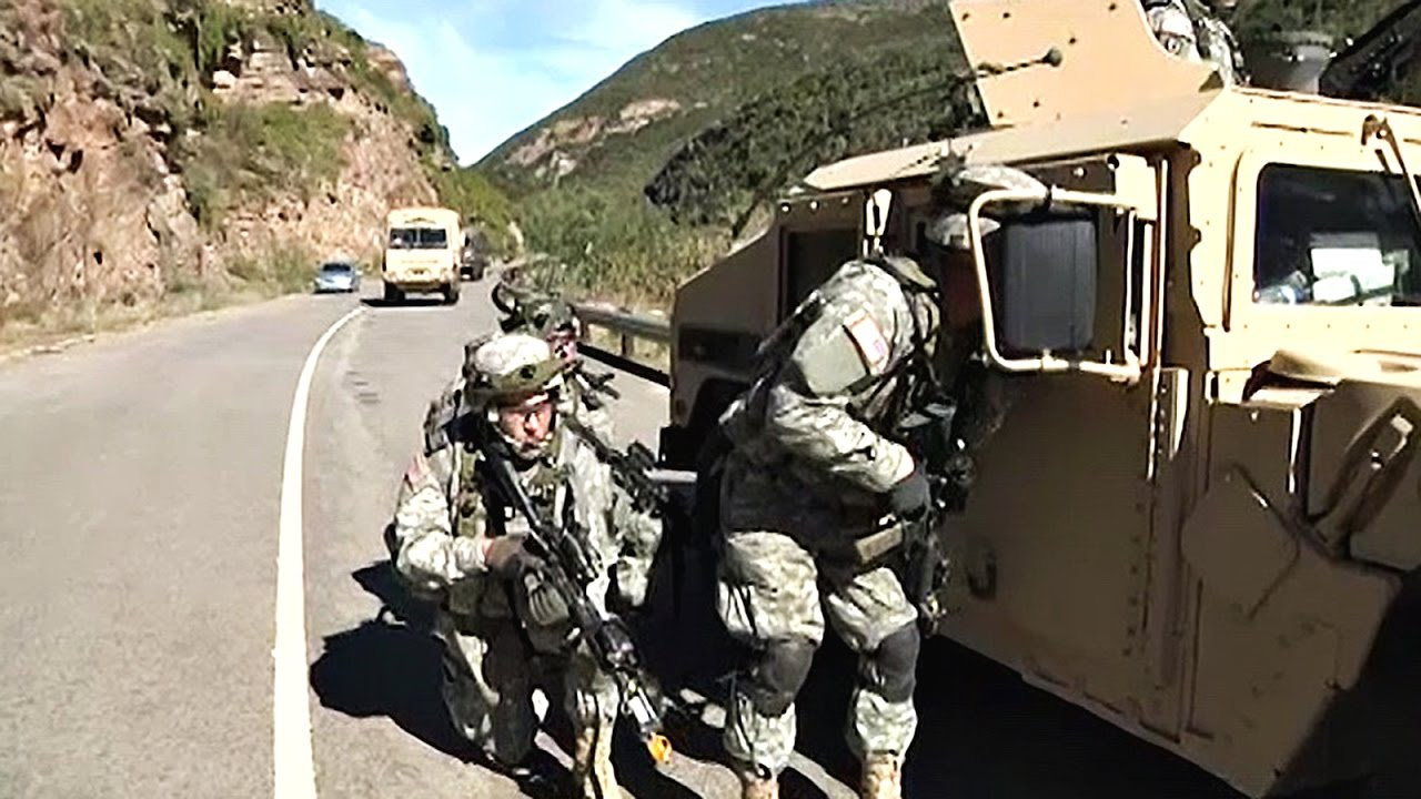 U S  & South African Defense Force In Exercise