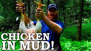 Baking CHICKEN in MUD (FEATHERS TOO)! | STRANGE Ancient Cooking! | NO MODERN TOOLS
