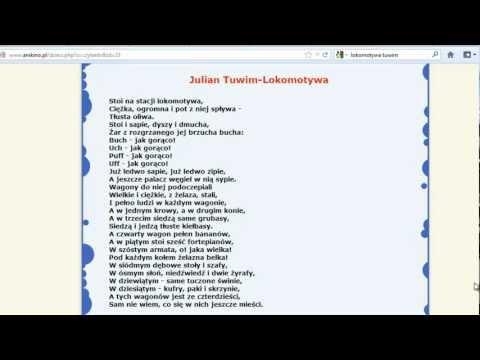 Julian Tuwim Lokomotywa Czytanie Dla Dzieci Youtube