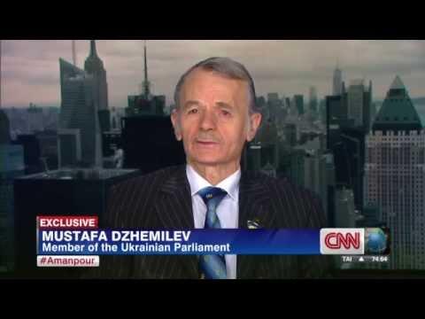 Mustafa Abdülcemil Cemilev - warns of possible bloodshed - Christiane Amanpour CNN 31/03/2014