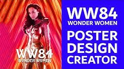 Wonder Woman 1984 Inspired Poster / Wallpaper Design Template - Photoshop Tutorial.