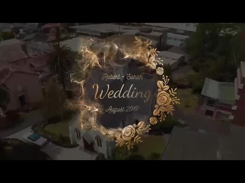 Golden Wedding Titles After Effects Templates