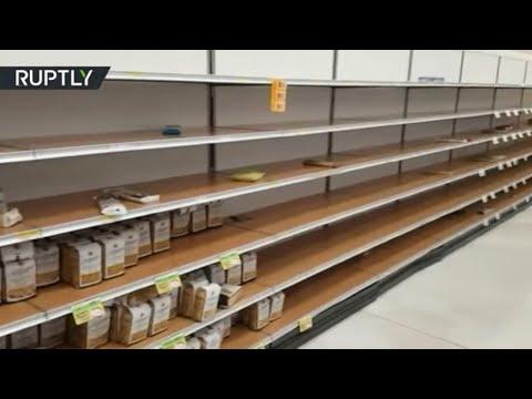 Empty shelves as