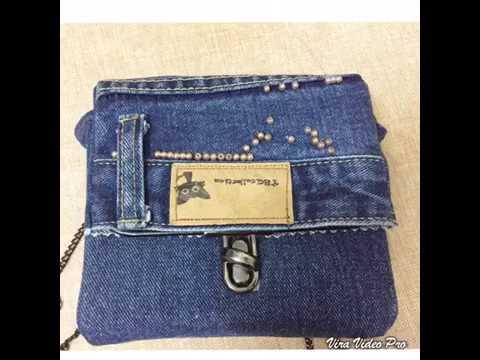 Hướng dẫn tự làm túi từ quần jeans.