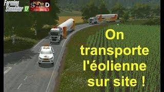FS17 GROS Convoi pour le transport de l'éolienne !!