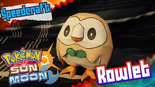 Pokemon Sun & Moon Papercraft ~ Rowlet ~
