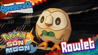 Pokemon Sun & Moon Papercraft ~ Rowlet ~