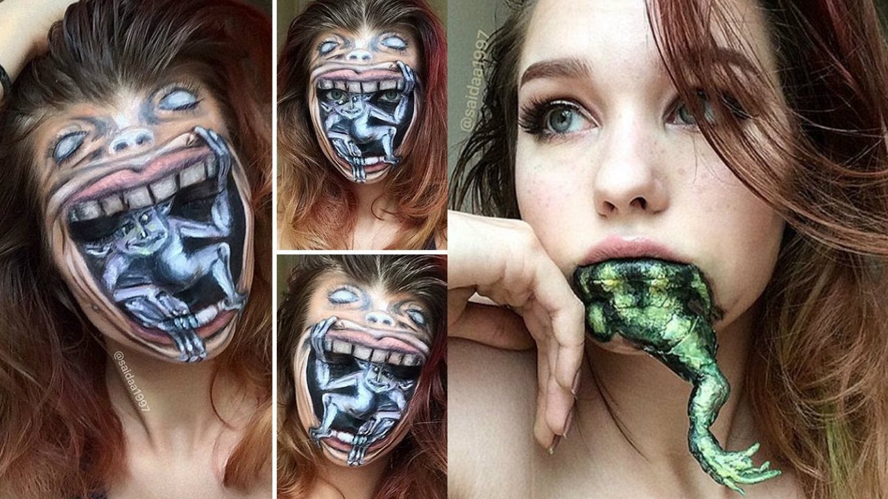 Amazing Halloween Makeup 2017   Horror Halloween makeup - YouTube