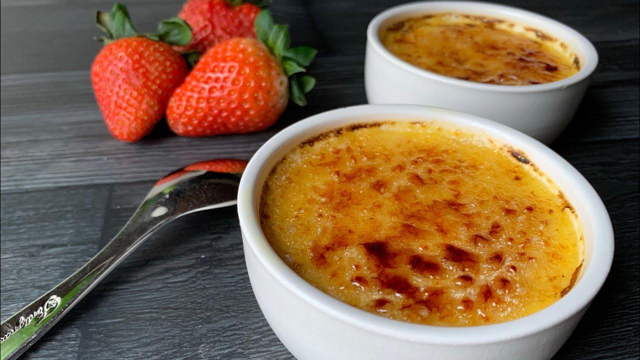 Crème brûlée เครมบรูเล่ ขนมหวานฝรั่งเศส ทำง่ายมาก
