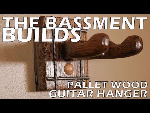 Pallet Wood Guitar Hanger Build