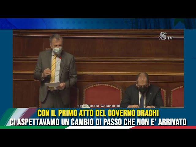 L'intervento del Sen. Nicola Calandrini sul DL Milleproroghe