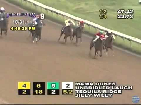 Weird Race   Horse Goes Extremely Wide And Still Wins