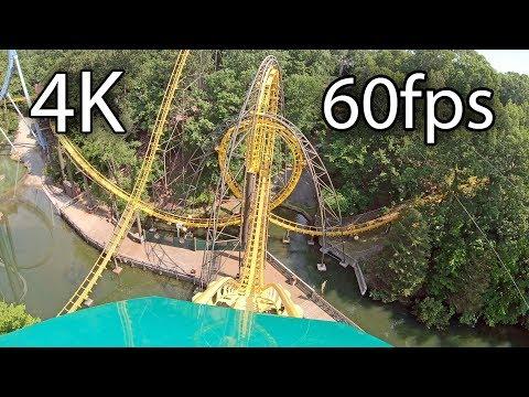 Loch Ness Monster Front Seat On-ride 4K POV @60fps Busch Gardens Williamsburg