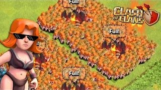 """Clash of Clans-""""I SUCK With Valkries""""-Farming To Level 9 Walls"""