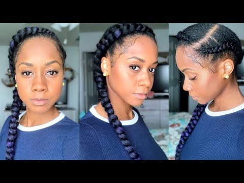 Cornrow Feed In Braid Protective Style On Black Hair Leg Workout Youtube