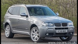 2009 59 bmw x3 xdrive20d m sport step auto m sport website video