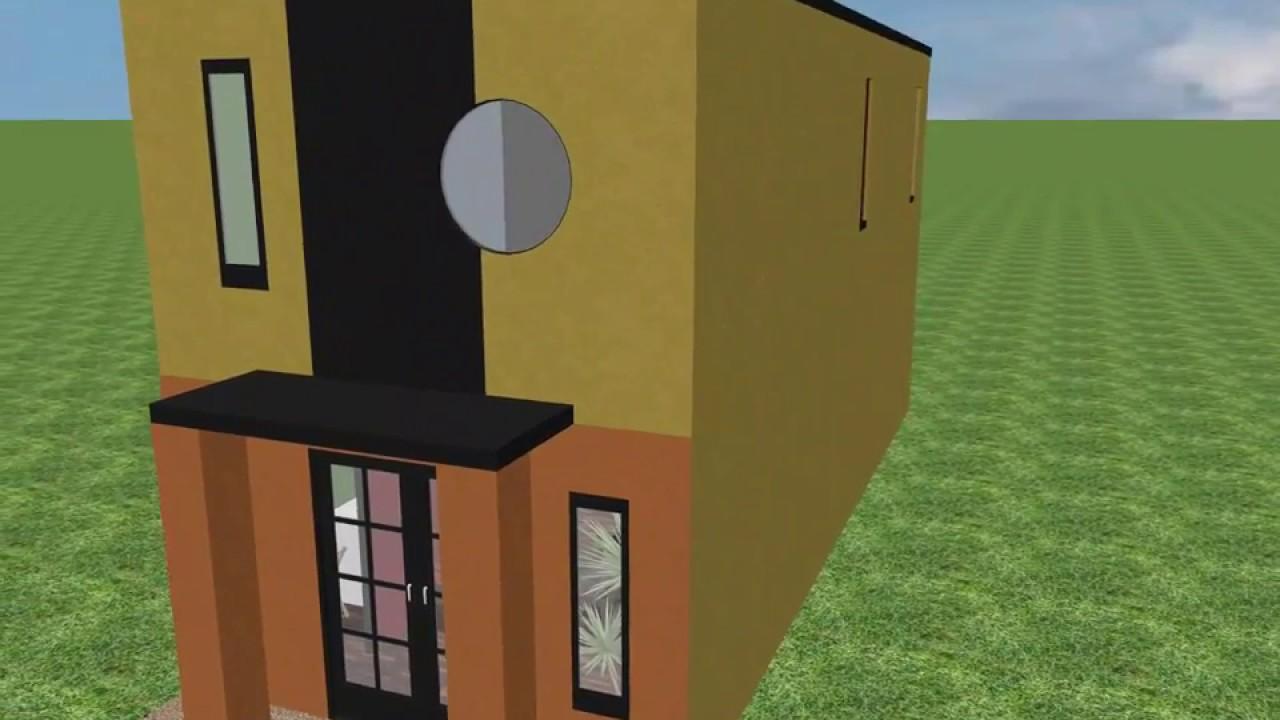 Casa 4 x 10 mts house 4 x 10 mts youtube for Diseno de apartamento de 4x8 mts